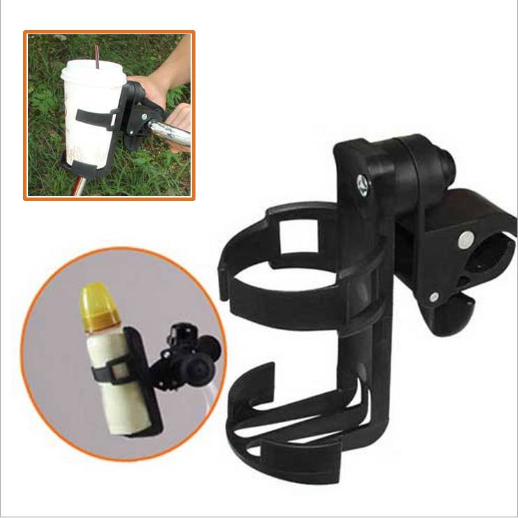 Delicate Baby stroller cup holder universal children's bicycle bottle rack Black rotatable and multifunction drinker holder(China (Mainland))