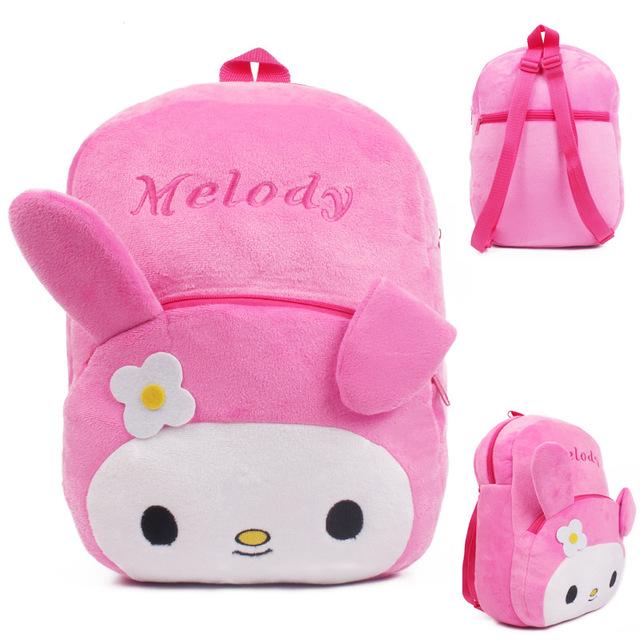 Высокое качество розовый мелодия плюшевые мультфильм игрушки рюкзак дети характер мешок школы для детей возрастом 3 - 5 Mochila Infantil горячая распродажа