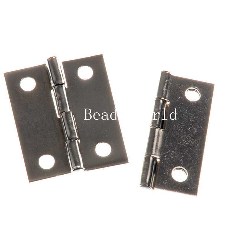 Real Promotion Glass Hinges 10 Silver Tone Door Butt Hinges 4 Holes (rotated From 0 To 270 Degrees) 37x29mm(w04383 X 1)(China (Mainland))