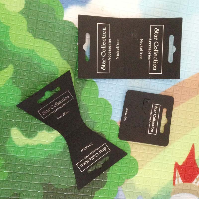 Black pvc Necklace card Bracelet Card Earring Card Custom Silver Logo Per Card 10000 pcs MOQ: 30000 PCS(China (Mainland))