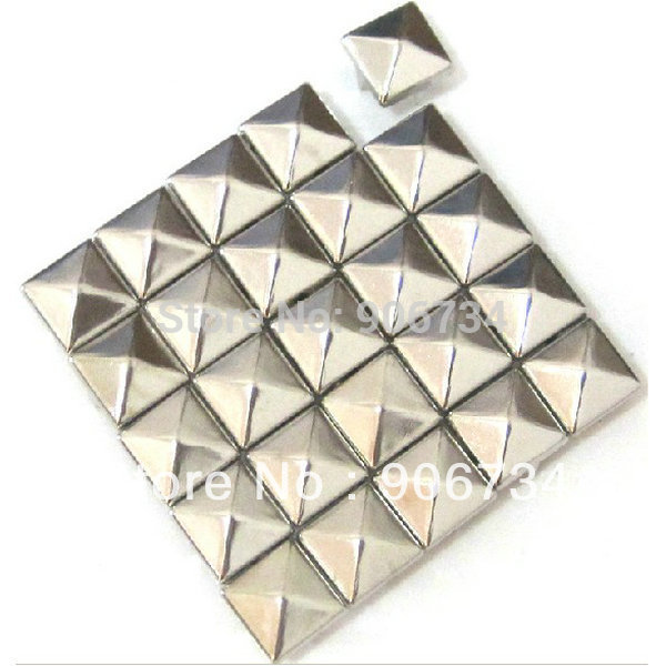 Wholesales 500PCS/Bag 10mm Spiked Punk Stud Silver Metal Leather Craft Studs Rivets(China (Mainland))