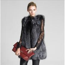 Novo 2015 moda inverno mulheres Faux Fur Vest Faux pele de raposa casaco mulher casaco de pele coletes Jacket feminino Ladies sobretudo tamanho S-XXXXL