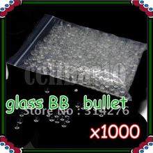 1000pcs x 6mm Glass Marbles BB Bullets For BB Gun(Hong Kong)