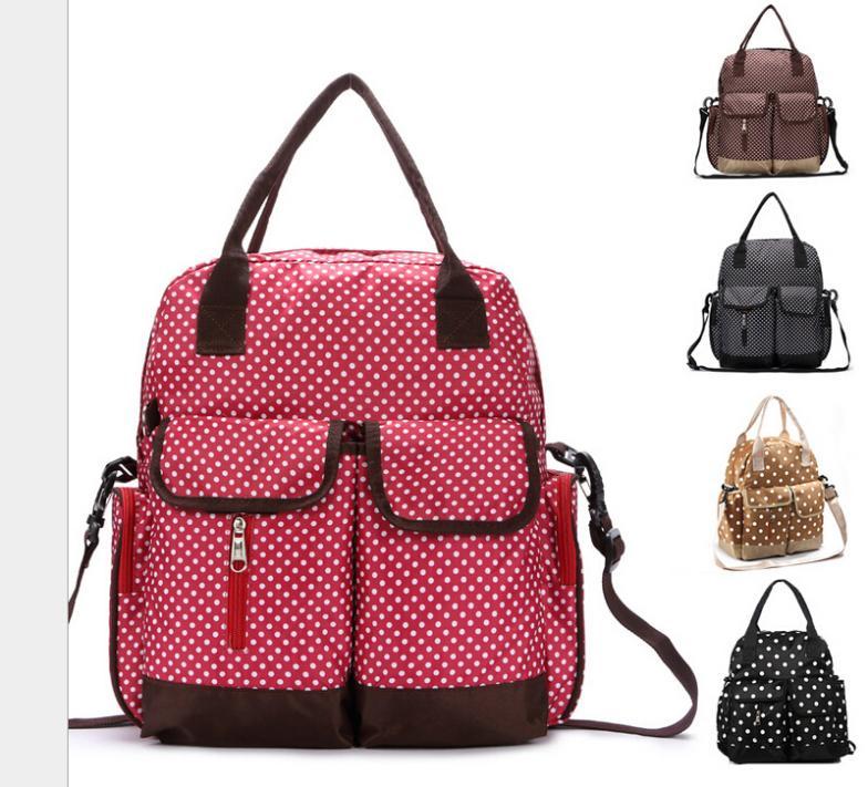 Free shipping Multifunction / three-piece / shoulder / diagonal / Mummy bag / large capacity bag B8/Baby diaper Nappy bags(China (Mainland))