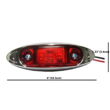 6pcs/lot  LED Trailer Truck LED Side Marker Light Lamps Clearance Light Red/Amber Free Shipping(China (Mainland))