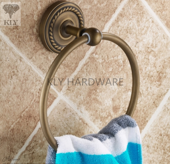 Brass Towel Rings, Bath Hardware Accessory,towel holder brown,holder for towels(China (Mainland))