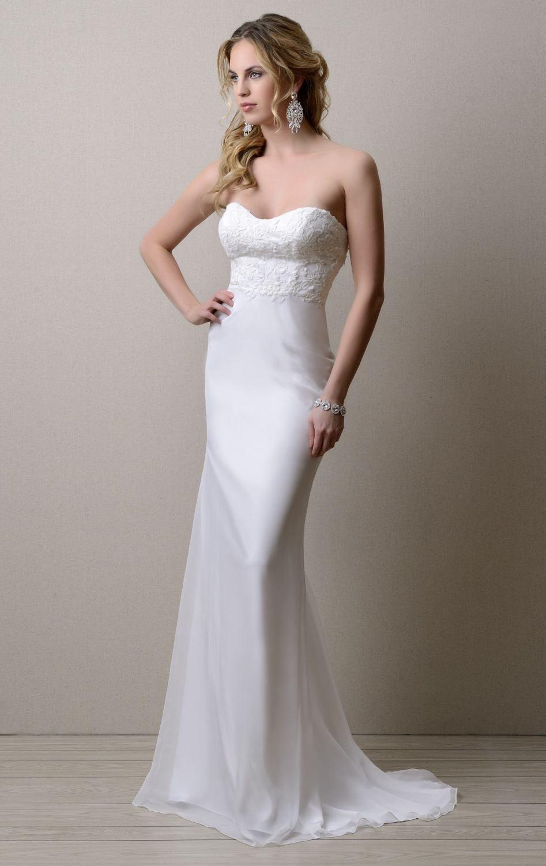 Vestidos de novia long sweetheart simple backless sheath for Backless sheath wedding dresses