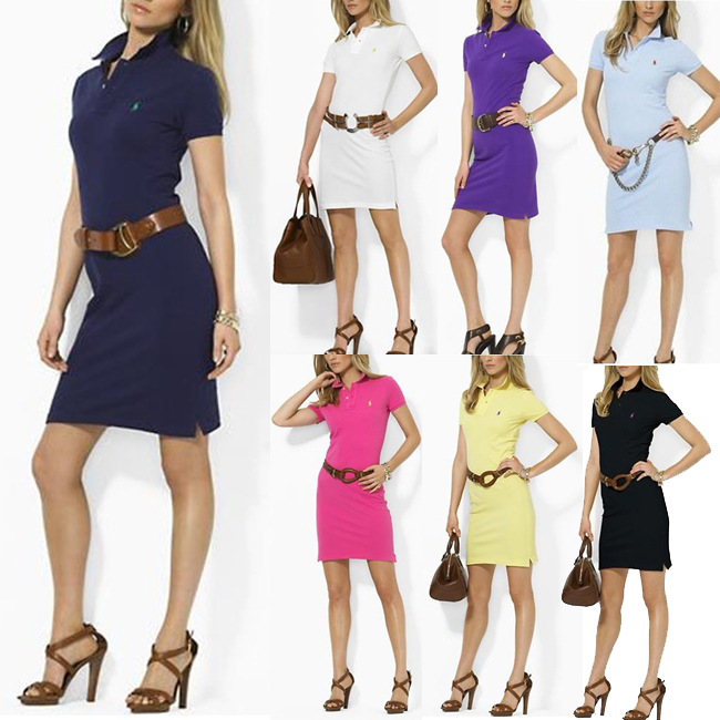 Women Summer Style Dress 2015 New Fashion Sport Polo Dress Women Sport Dress Casual Vestidos Autumn Summer Vestidos S M L XL(China (Mainland))