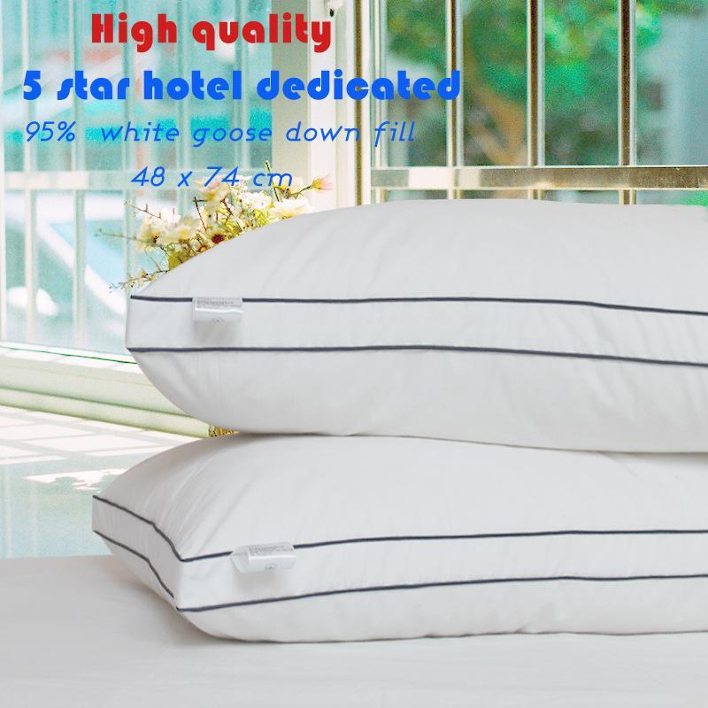 Zero Pressure Memory Pillow Neck Health textile bedding 95% goose pillow white duck body / Sleeping hotel