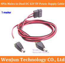 Buy 2PCS ATX 4 Pin 4P Molex Dual DC 12V*1 5V*1 Power Supply Cable Cord 18AWG Wire BTC Bitcoin Mining DIY 1M for $17.50 in AliExpress store