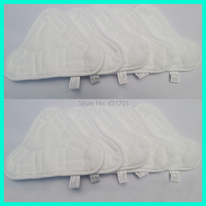free shipping Set of 10 MICROFIBRE Washable Floor Steam Cloth MOP PADS for H2O H20 X5 Mops(China (Mainland))