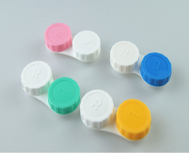 Candy colored contact lens case contact lenses box double tank 40 mounted JD series glasses box