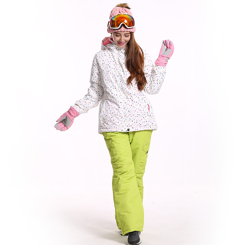 High Quality Women Ski Set Snowboard Pants And Jackets Winter Hiking Snowing Trousers Waterproof Pants Outdoor Sport Ski Jackets