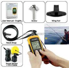 Portable Electronic Sonar Fish Finder Depth Alarm Transducer Alarm 100M AP,Fishing Iure Ice Finder Echo Sounder For Fishing(China (Mainland))