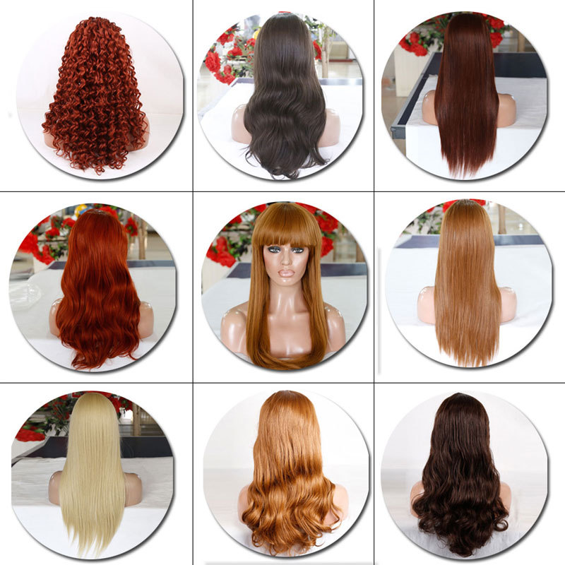 New Fashion Cheap Heat Resistant Synthetic Wig Long Wavy Straight Blonde Black Wigs Synthetic Wigs For Black Women Free Shipping