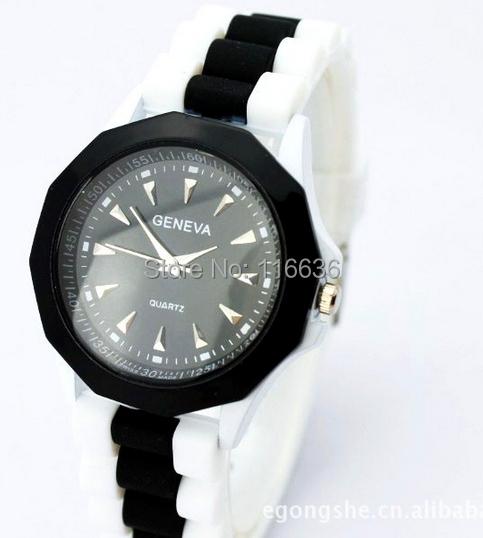 10pc lot Jelly Geneva Wrist Watch Women Polygon shape Silicon Rubber Band Ladies<br><br>Aliexpress
