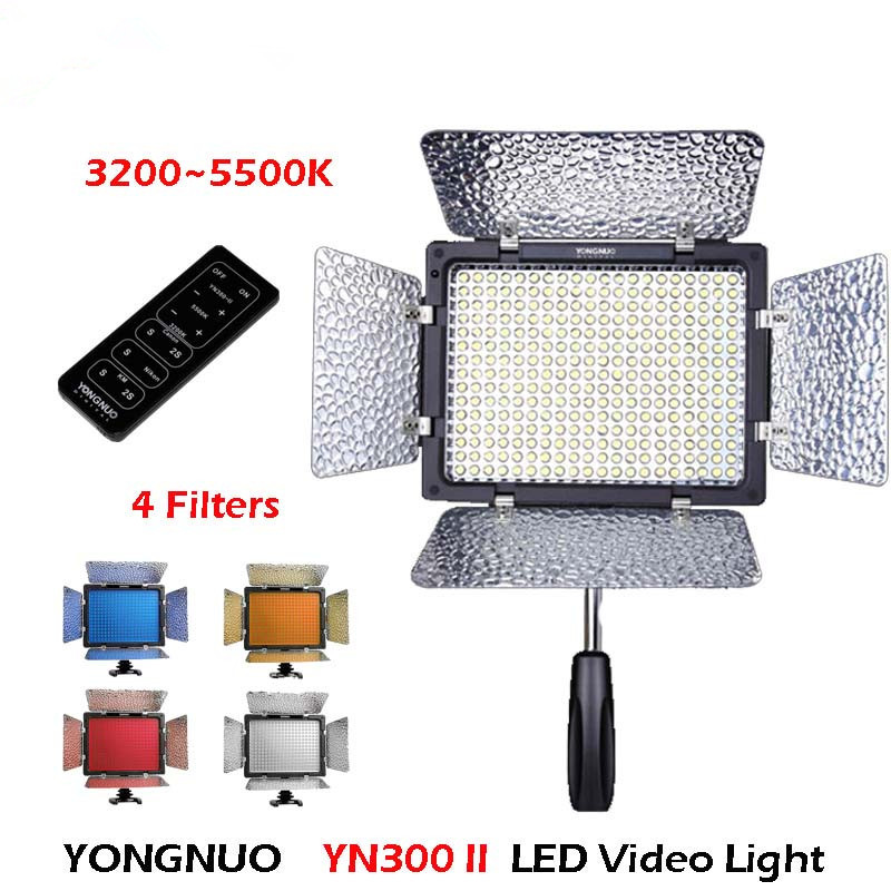 Original Yongnuo YN300 II YN-300 ll Pro LED Video Light Camera Camcorder Color with Remote Control controlled for Canon Nikon(China (Mainland))