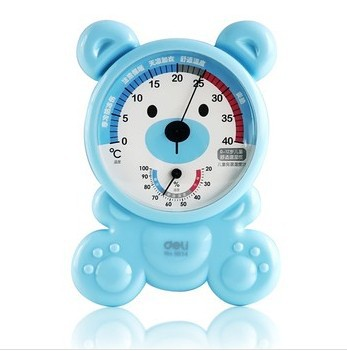 new 2014 infrared 9014 digital hygrometer indoor baby thermometers temperature sensor weather stations car thermostat color blue(China (Mainland))