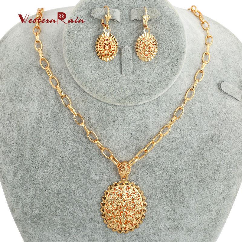 2018 Westernrain Hot Sale Fashion Dubai Jewelry Sets,Gold Plated ...