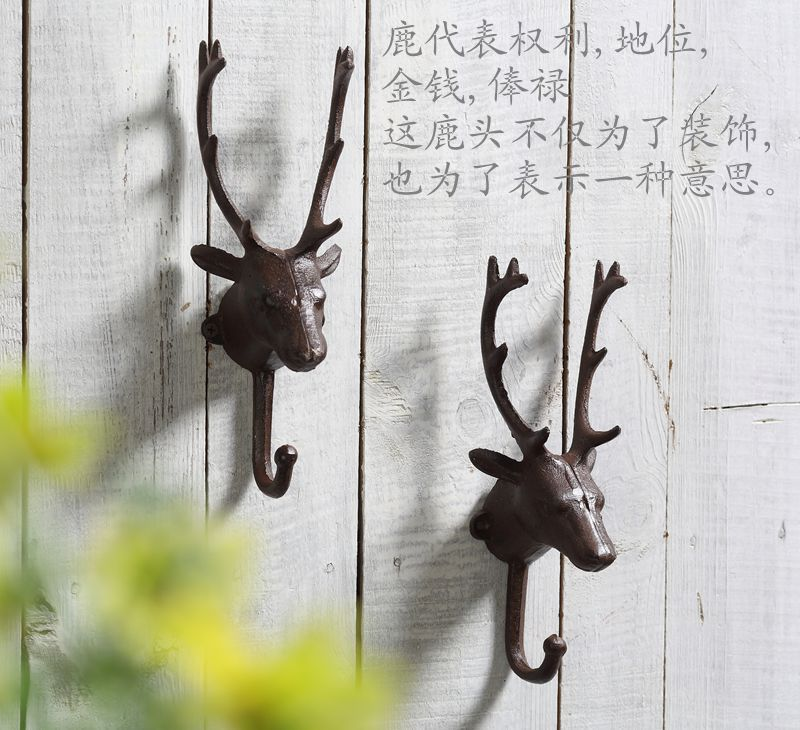 Fashion vintage hook hanger vintage deer display rack wall(China (Mainland))