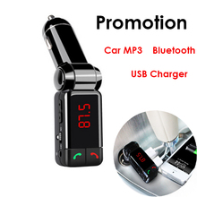 Big Promotion Car mp3 Bluetooth Car Bluetooth FM transmitter car cigarette lighter  USB charging  Samsung iphone  Free Shipping(China (Mainland))
