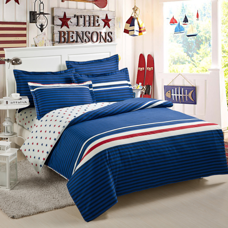 bedding brief slanting stripe 100 cotton bed sheets. Black Bedroom Furniture Sets. Home Design Ideas