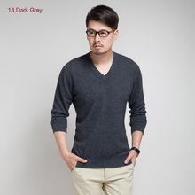 New Brand 2015 Autumn Winter Men's V-Neck 100% Mink Cashmere Sweater Pullover For man  christmas blusas masculina men jumper(China (Mainland))