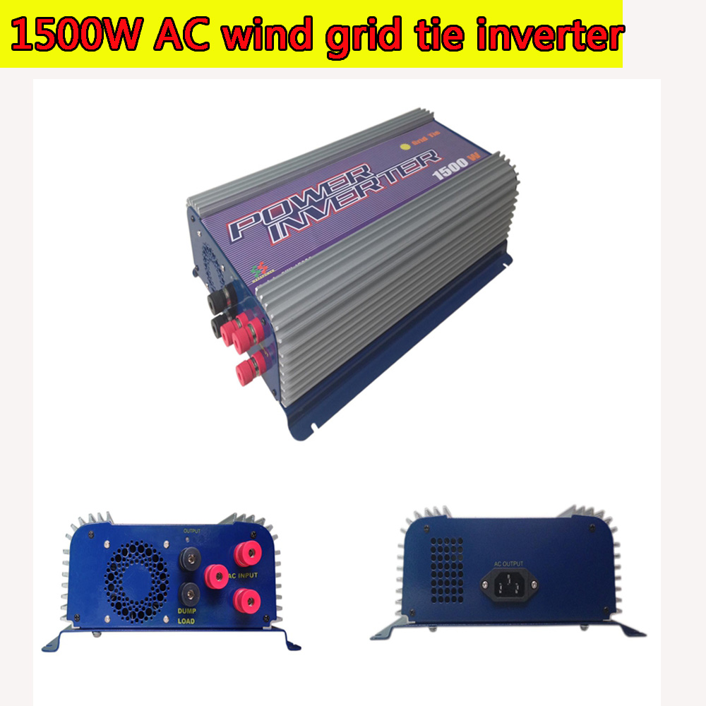 1500W Grid Tie Inverter with Dump Load for 3 Phase AC Wind Turbine Grid Tie Inverter 45-90V Input MPPT Pure Sine Wave NEW(China (Mainland))