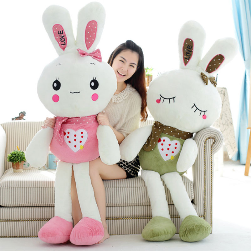 2017 Cute 80CM Easter Rabbit Baby Soft Plush Toys Brinquedos Plush Rabbit Stuffed Toys White Best Gift for Kids HT3644(China (Mainland))