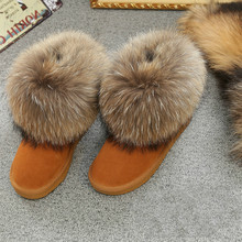Mujeres de la manera Zapatos Calientes Del Cuero Genuino de Las Mujeres Botas de Piel de Nieve Botas de Invierno Cálido Y Confortable de Alta Calidad Australia Botas de Marca(China (Mainland))