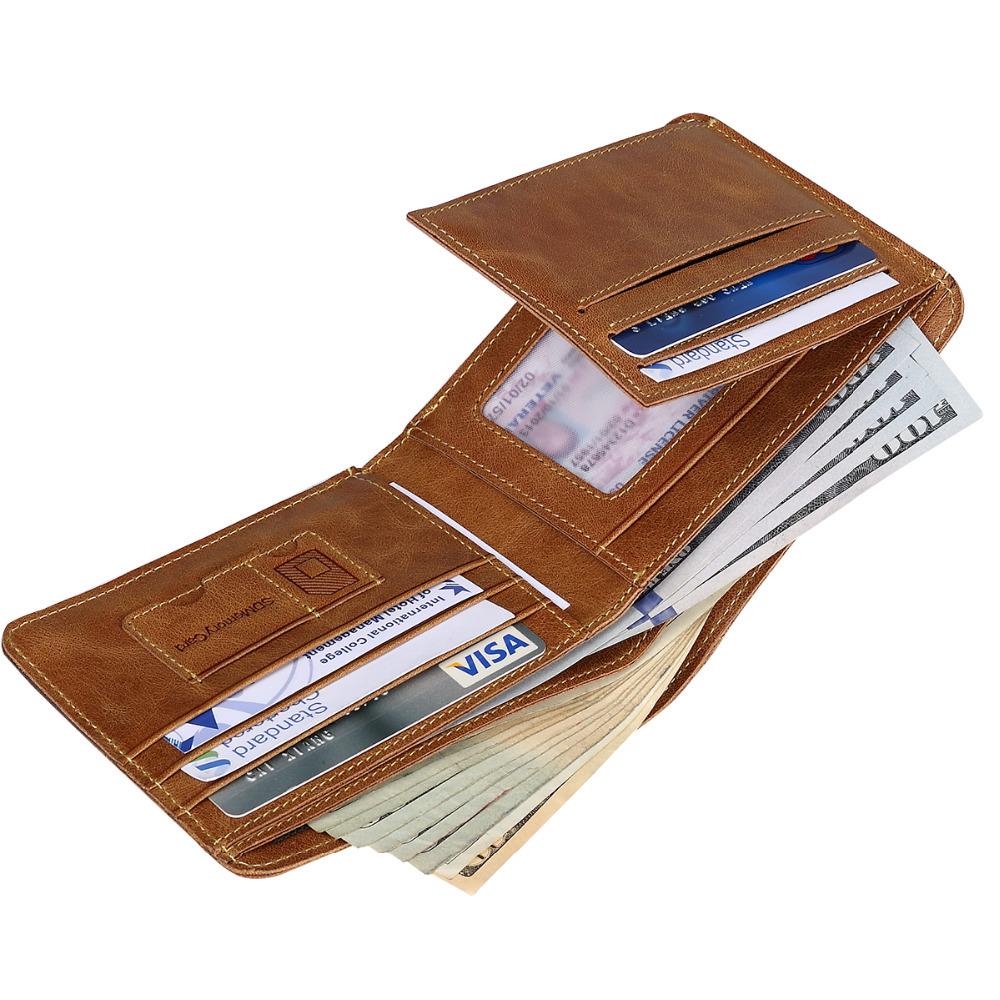 Фотография Fashion New Arrival Promotion Men Genuine Leather Wallet Card Holder Cowboy Natural Vintage Purses Cash Multi-Card