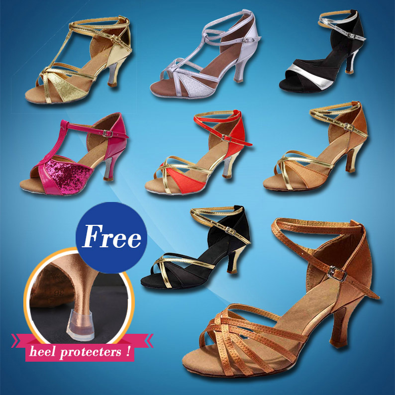 Free Shipping Hot-Selling Brand New Latin Dance Shoes High Heel for Ladies/Girls/Women/Ballroom Tango Shoes/7CM/Wholesale Price(China (Mainland))