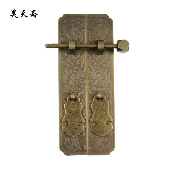[Haotian vegetarian] antique copper antique furniture bookcase door pull hands HTC-281 Panzhihua large number(China (Mainland))
