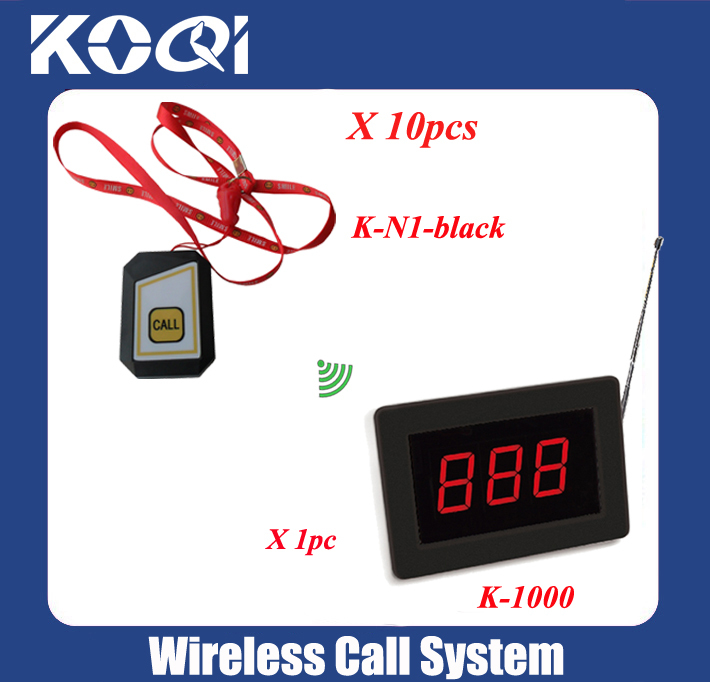 Nurse wireless call button system for clinic equipment with one display receiver K-1000 and 10pcs mini buzzers(China (Mainland))