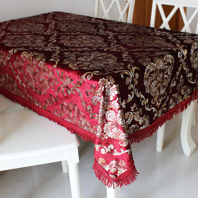 Fashion luxury customize rustic round tablecloth round table cloth table cloth dining table cloth fabric table runner