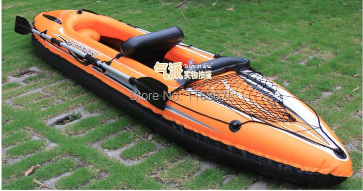 The new entry-level Double Double canoe inflatable canoe orange rubber dinghy / inflatable boat / kayaking Free Shipping(China (Mainland))