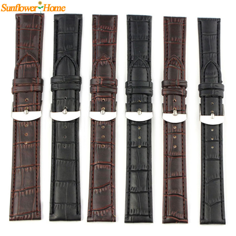 Newly Design Sporting Goods High Quality Soft Sweatband Faux Leather Strap Steel Buckle Wrist Watch Band 160108(China (Mainland))