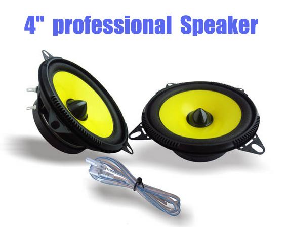 2016 1 Pair 4'' inch Car Speaker Automobile Automotive Car HIFI Full Range Bubble Gum Edge Speakers Car horn(China (Mainland))