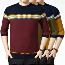 Autumn Winter Men wool sweater business and leisure warm high-quality thicken pullover O-neck men woolen sweater(China (Mainland))