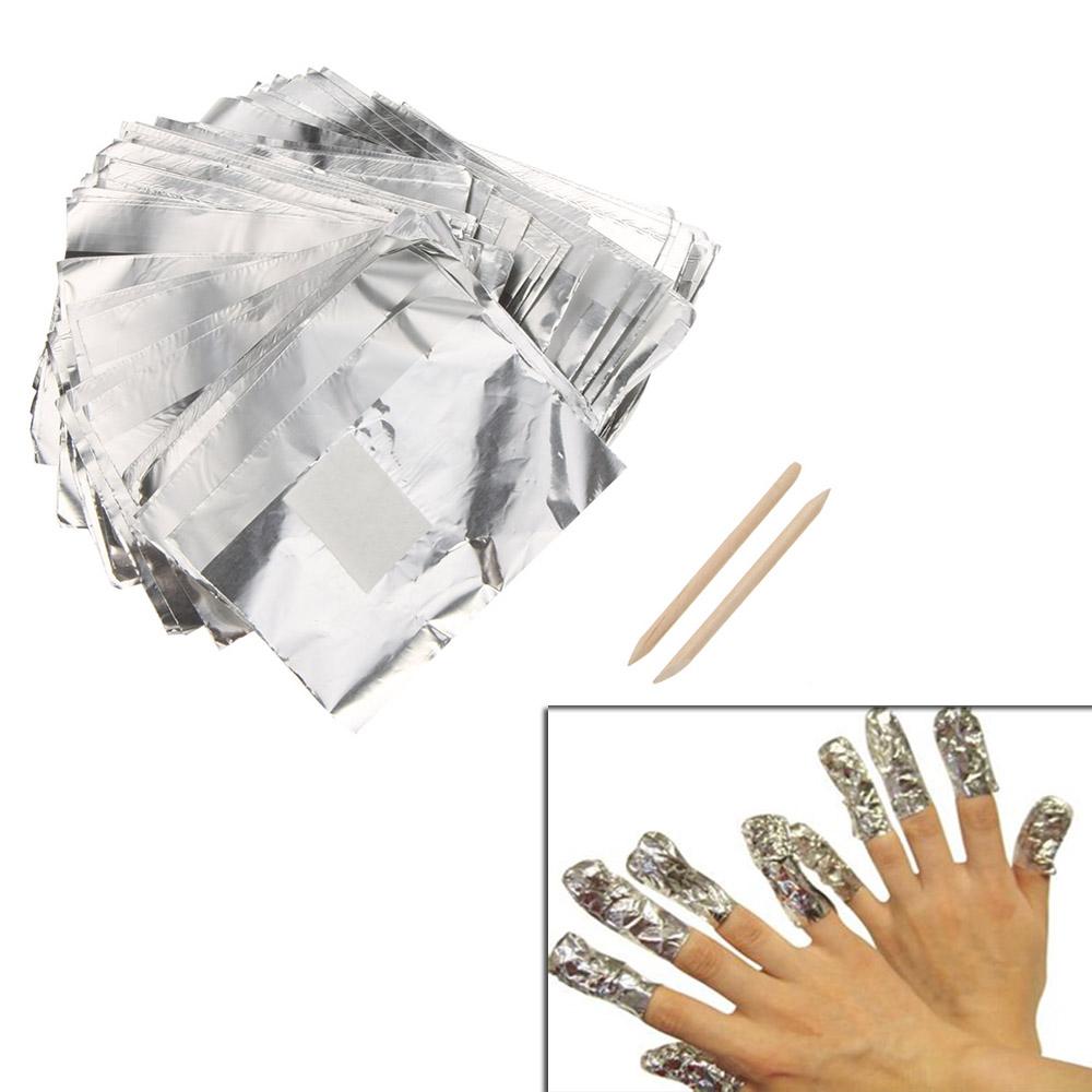 Nail Art Soak Off Gel Wraps Gel Polish Remover Cleaner Tool Set 100pcs Aluminum Foil Paper Nail Toools(China (Mainland))