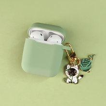 Bonito Dos Desenhos Animados Gato Doce Silicone case Para Apple Airpods Acessórios fone de Ouvido Bluetooth Fone de Ouvido Tampa Protetora Coelho Anel Chave(China)