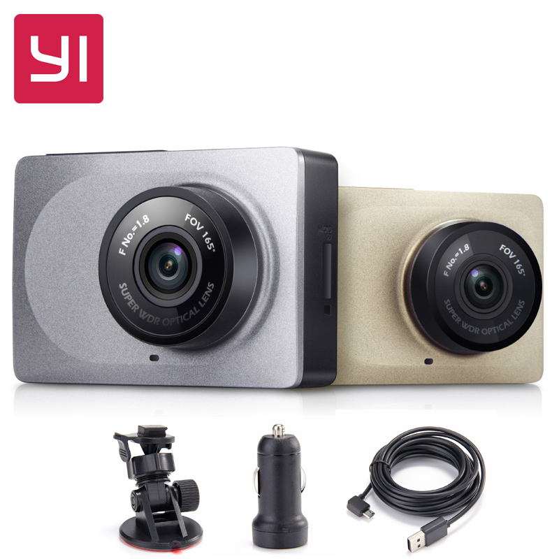 "Free Shipping![International Edition] Xiaomi Xiaoyi YI Smart Car DVR 2.7"" 165 Degree 1080P/60fps ADAS WiFi Action Dash Camera(China (Mainland))"