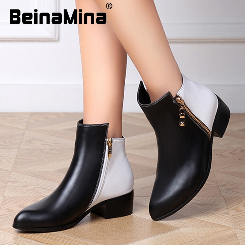 women real natrual genuine leather flat ankle boots half short motorcycle botas snow winter boot footwear shoes R7285 size 34-39<br><br>Aliexpress