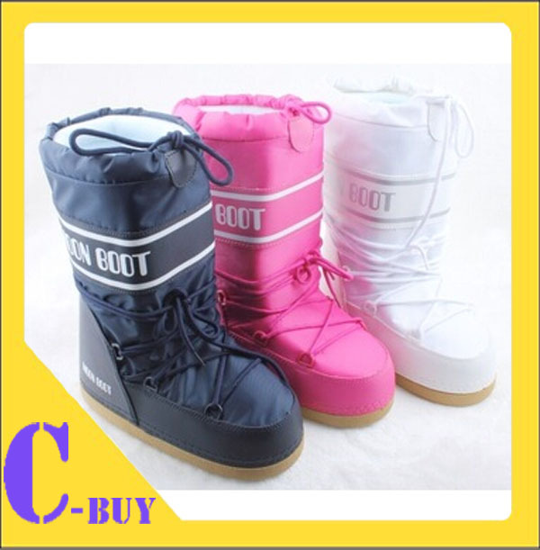 Autumn and Winter Female Space Moon Boots skiing boots New 2013 Flats Snow Winter Boots Shoes Women Motorcycle Boots Pumps(China (Mainland))