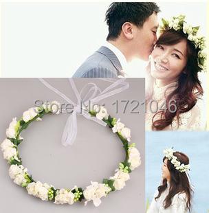 Wedding jewelry Fashion Headband for women Boho Floral handmade Flower Hairband for Party Bride Garland diademas florales TS130J(China (Mainland))