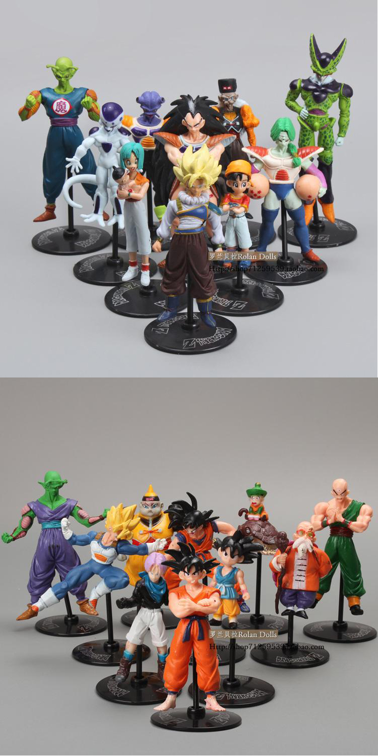 Free Shipping Dragon Ball Z GT Action Figures Crazy Party 10CM Cell/Freeza/Goku PVC Dragonball Figures Best Gift For brinquedos(China (Mainland))