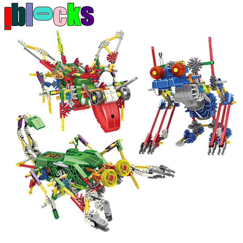IBLOCKS Electric Animal Robots Model Building Kits Stick Blocks Education Hobbies Assemblage Educational Toys Children - iblocks -hobby Store store