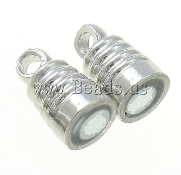 Free shipping!!!Brass Magnetic Clasp,DIY,Jewelry DIY, platinum color plated, nickel, lead & cadmium free, 5x17.50mm
