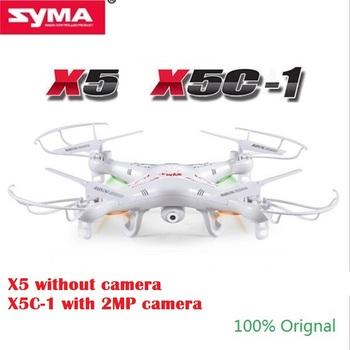 SYMA X5C-1 (обновленная версия SYMA X5C) RC дрон, контролирующийся в 6 осях, с пультом дистанционного управления, вертолет мультикоптер с 2-мегапиксельной HD камерой или X5 без камеры