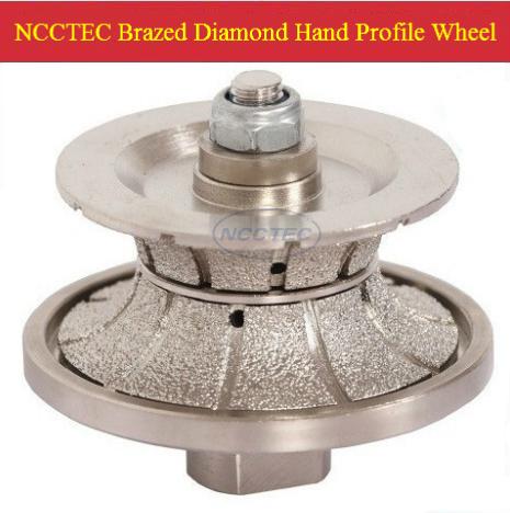 [65mm*5mm ] diamond Brazed hand profile shaping wheel NBW V655 FREE shipping ROUTER BIT FULL BULLNOSE 5mm V5<br>